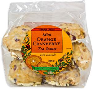 Trader Joe's Mini Orange Cranberry Tea Scones