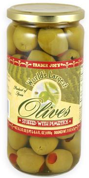 Trader Joe's Olives Stuffed With Pimento