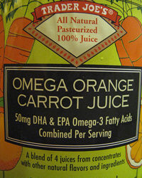 Trader Joe's Omega Orange Carrot Juice