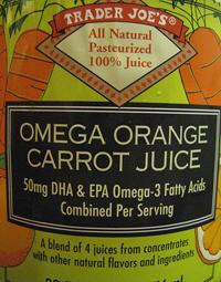 Trader Joe's Omega Orange Carrot Juice