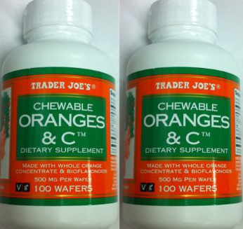 Trader Joe's Chewable Oranges & Vitamin C