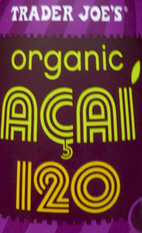 Trader Joe's Organic Acai 120