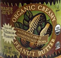 Trader Joe's Organic Creamy Peanut Butter