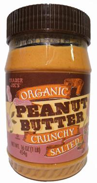Trader Joe's Organic Crunchy Salted Peanut Butter