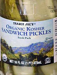 Trader Joe's Organic Kosher Sandwich Pickles