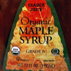 Trader Joe's Organic Grade B Maple Syrup
