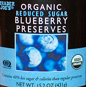 Trader Joe's Organic Reduced Sugar Blueberry Preserves