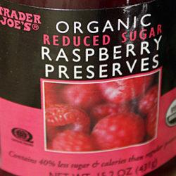 Trader Joe's Organic Reduced Sugar Raspberry Preserves