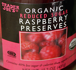 Trader Joe's Organic Reduced Sugar Raspberry Preserves