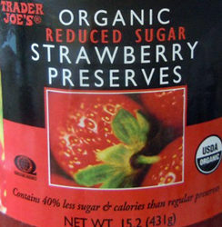 Trader Joe's Organic Reduced Sugar Strawberry Preserves