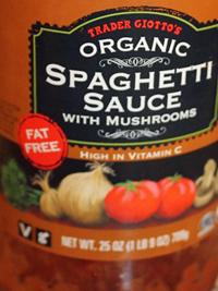 Trader Joe's Organic Spaghetti Sauce with Mushrooms