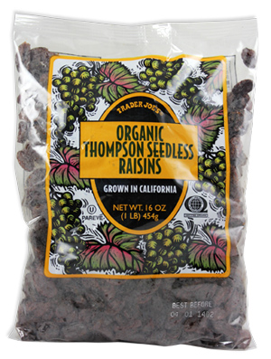 Trader Joe's Organic Thompson Seedless Raisins