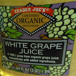 Trader Joe's Organic White Grape Juice