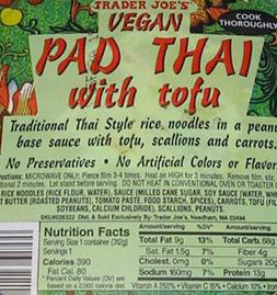 Trader Joe's Pad Thai with Tofu