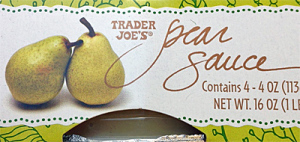 Trader Joe's Pear Sauce 4 -Packs