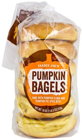 Trader Joe's Pumpkin Bagels
