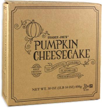 Trader Joe's Pumpkin Cheesecake