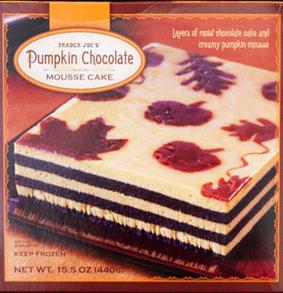 Trader Joe's Pumpkin Chocolate Mousse Cake