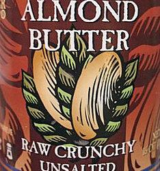 Trader Joe's Raw Crunchy Unsalted Almond Butter