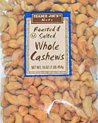 Trader Joe's Roasted & Salted Whole Cashews