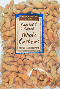Trader Joe's Roasted & Salted Whole Cashews