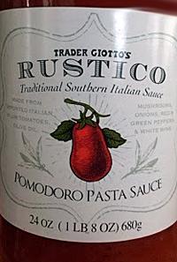 Trader Joe's Rustico Pasta Sauce