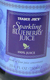 Trader Joe's Sparkling Blueberry Juice
