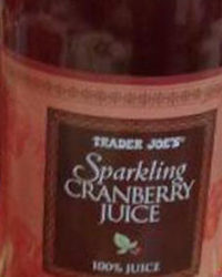 Trader Joe's Sparkling Cranberry Juice