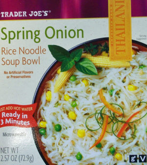 Trader Joe's Spring Onion Rice Noodle Soup Bowl