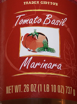 Trader Joe's Tomato Basil Marinara