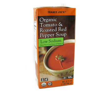 Trader Joe's Organic Low Sodium Tomato & Roasted Red Pepper Soup