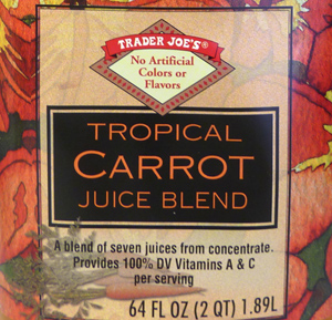 Trader Joe's Tropical Carrot Juice Blend