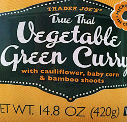 Trader Joe's True Thai Vegetable Green Curry