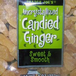 Trader Joe's Uncrystallized Candied Ginger