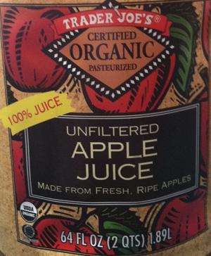 Trader Joe's Organic Unfiltered Apple Juice