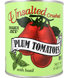 Trader Joe's Unsalted Crushed Plum Tomatoes