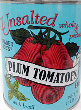 Trader Joe's Unsalted Plum Tomatoes
