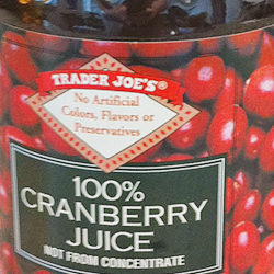 Trader Joe's 100% Cranberry Juice