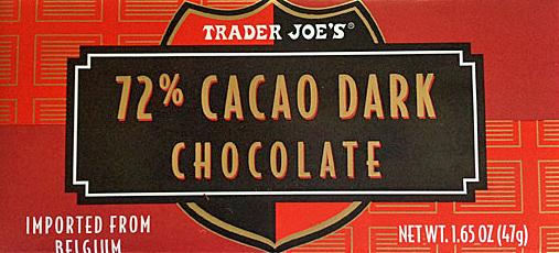 Trader Joe's 72% Dark Chocolate Bar