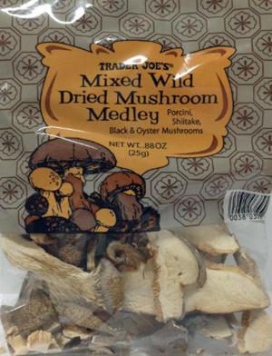 Trader Joe's Mixed Wild Dry Mushroom Medley