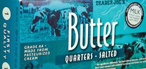 Trader Joe's Salted Butter Quarters