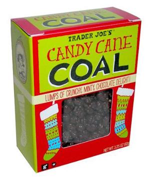 Trader Joe's Candy Cane Coal