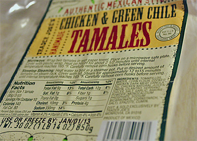 Trader Joe's Chicken & Green Chile Tamales