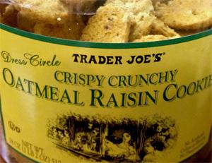 Trader Joe's Crispy Crunchy Oatmeal Raisin Cookies