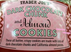Trader Joe's Dark Chocolate Chunk & Almond Cookies