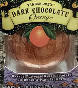 Trader Joe's Dark Chocolate Orange