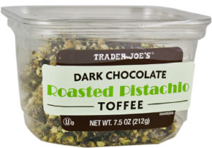 Trader Joe's Dark Chocolate Roasted Pistachio Toffee