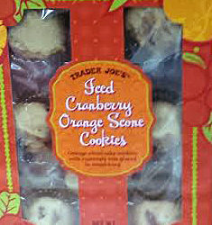 Trader Joe's Iced Cranberry Orange Scone Cookies