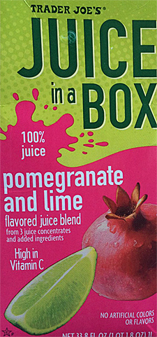 Trader Joe's Pomegranate and Lime Juice in a Box