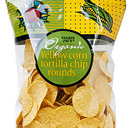 Trader Joe's Organic Yellow Corn Tortilla Chip Rounds